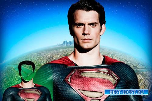 Фотошаблон для фотошопа - Супермен