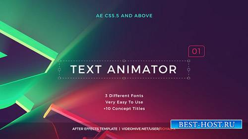 Текст Аниматор 01: Креативные Современные Названия - Project for After Effects (Videohive)