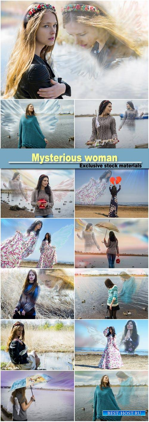 Mysterious woman, creative
