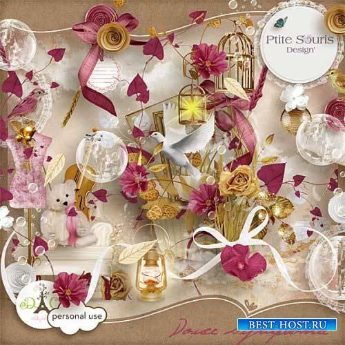 Романтический винтажный скрап-набор - Сладкая симфония