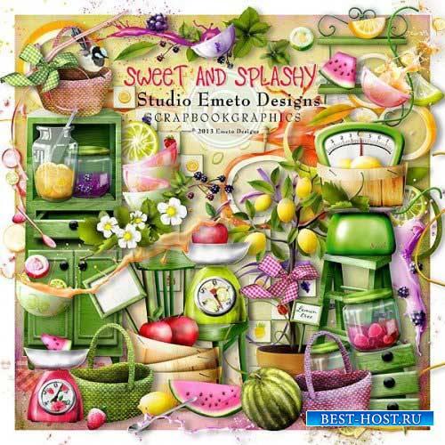 Фруктово-ягодный скрап-набор - Sweet and splashy