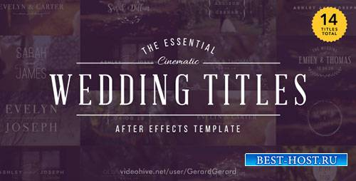 Свадебные Титры - Project for After Effects (Videohive)