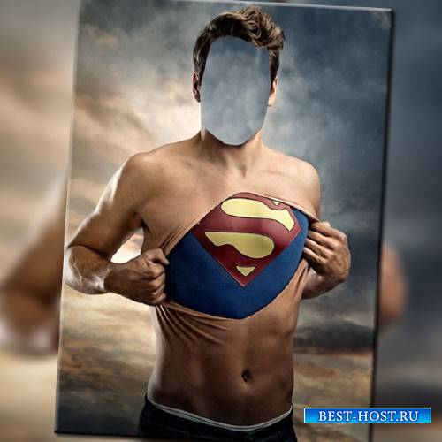 Шаблон psd - Супермен в душе