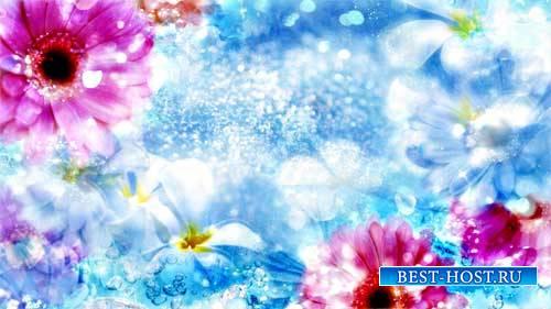 Футаж фона - Цветочный фон