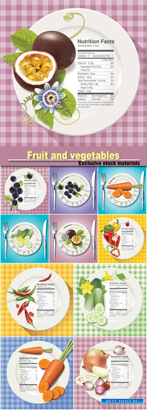 Nutrition facts in fruit and vegetables