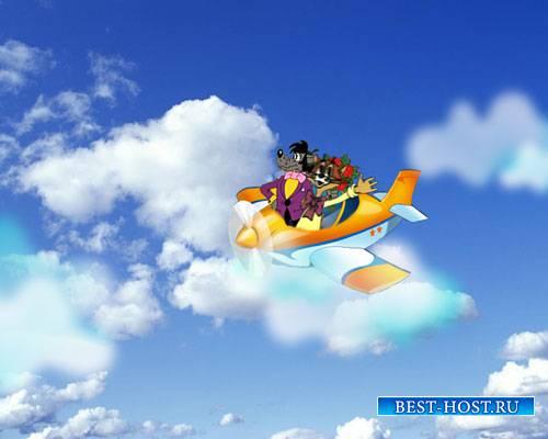 Футажи мультяшек - Мы летим к вам