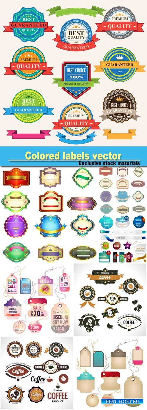 Colored labels vector