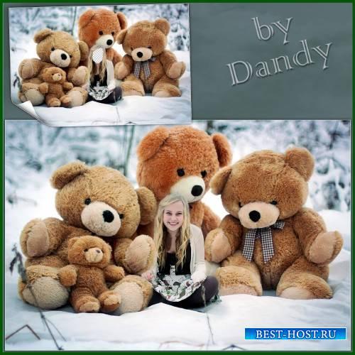 Шаблон для девушки - Маша и медведи