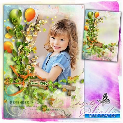 Фоторамочка-  Цветочки лета