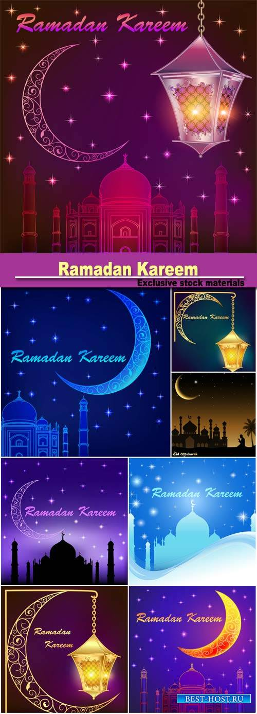 Ramadan Kareem islamic background, eid mubarak, islam holly month