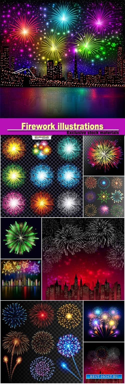Firework illustrations