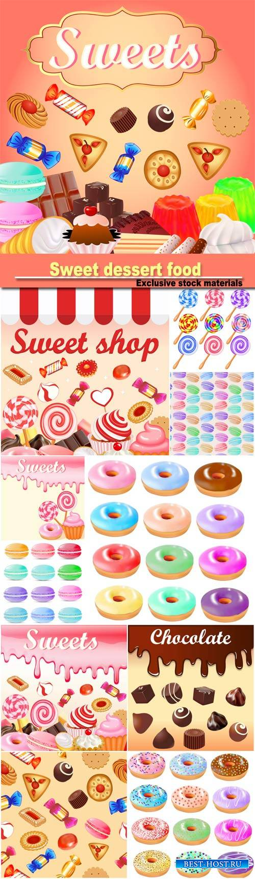 Sweet dessert food  background