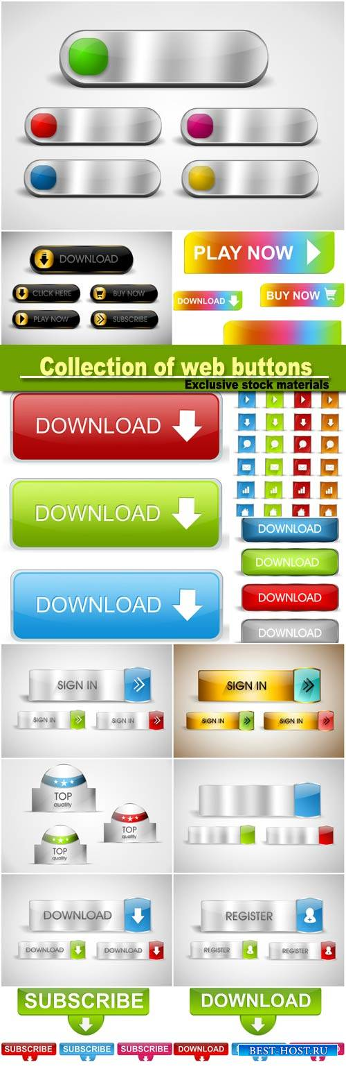 Big colorfull collection of web buttons, icons