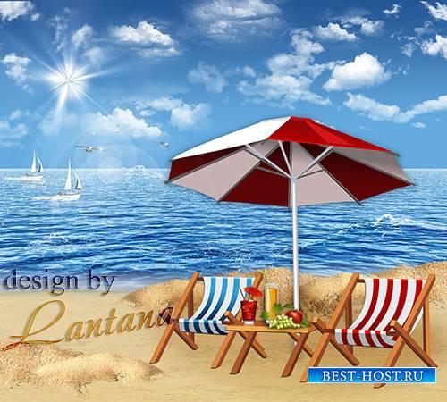 PSD исходник - Бархатный сезон у моря