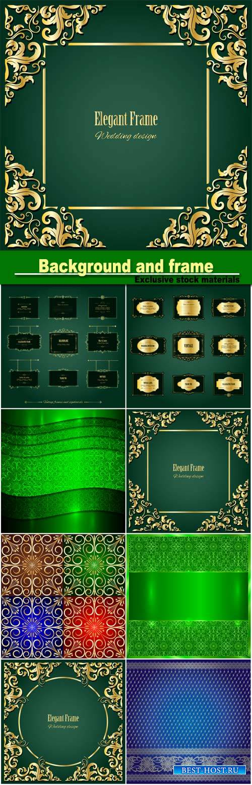 Vector metallic background, elegant