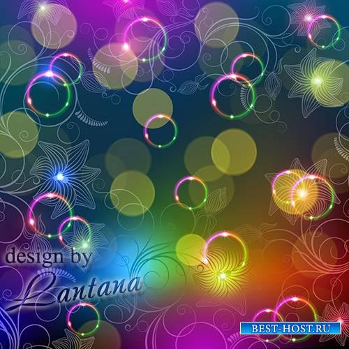 PSD исходник - Цветной калейдоскоп играет от ярких красок, солнечных картин