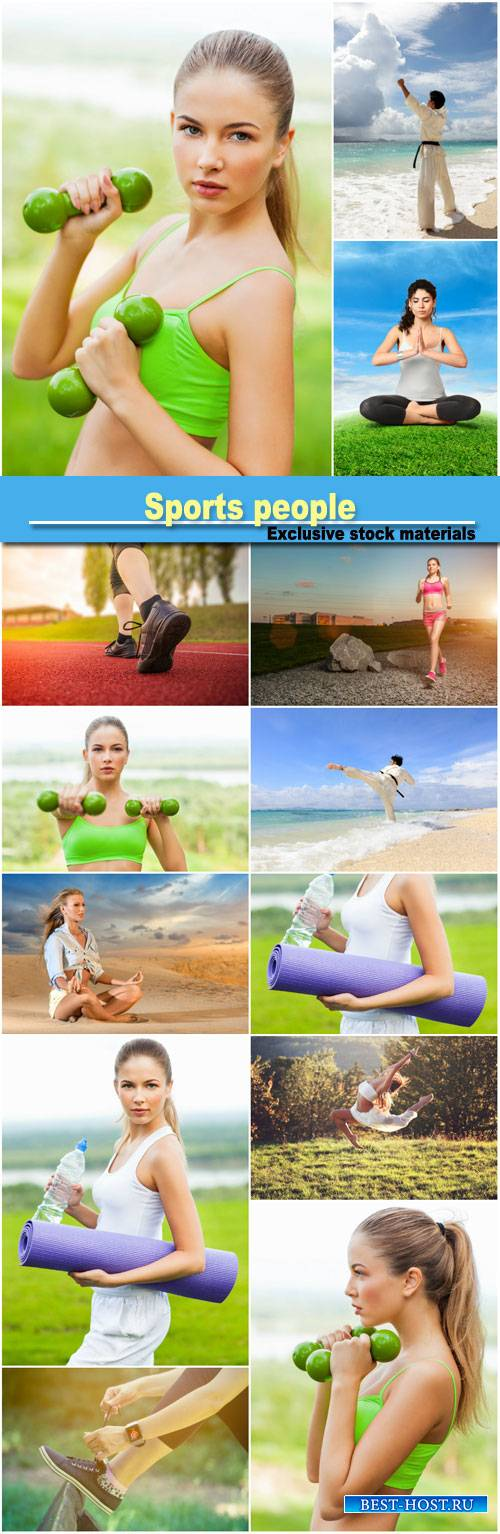 Sports people, fitness, yoga