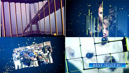 3D сплит слайдшоу - Project for After Effects (Videohive)