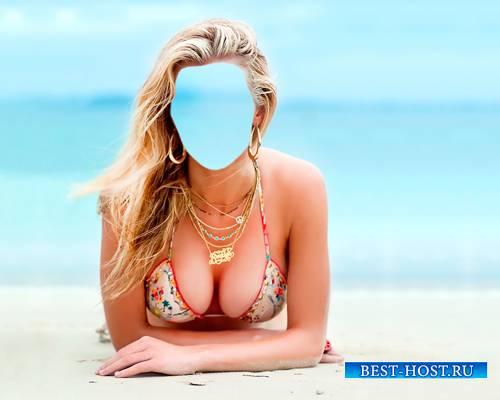 Женский шаблон - На морском песочке