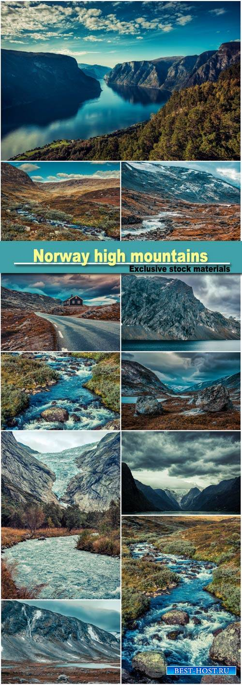 Norway high mountains landscape