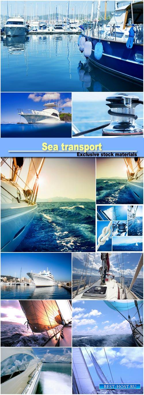 Sea transport, ships and yachts