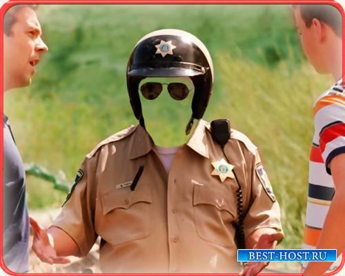 Psd - Местный полицейский в шлеме