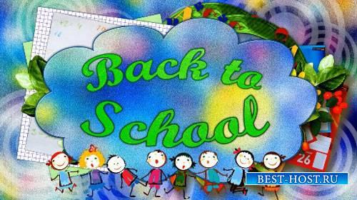 Школьный футаж HD - Снова в школу