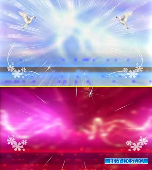 Футажи свадебные фоны - Голуби на фоне-это любовь
