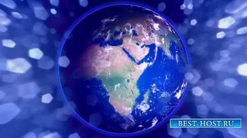 Видео футаж - Планета земля