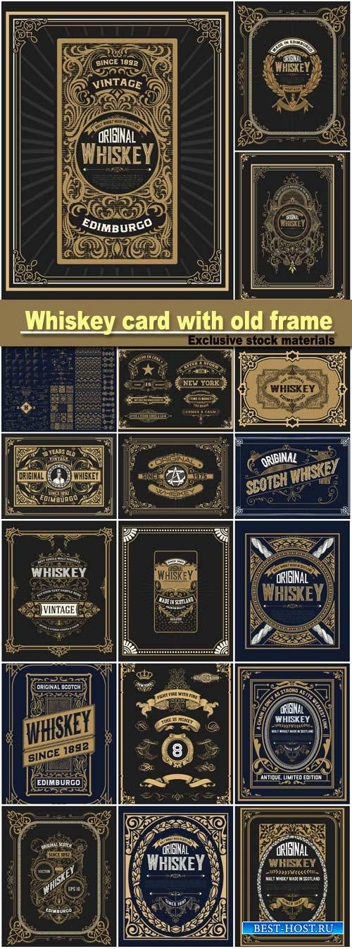 Whiskey card with old