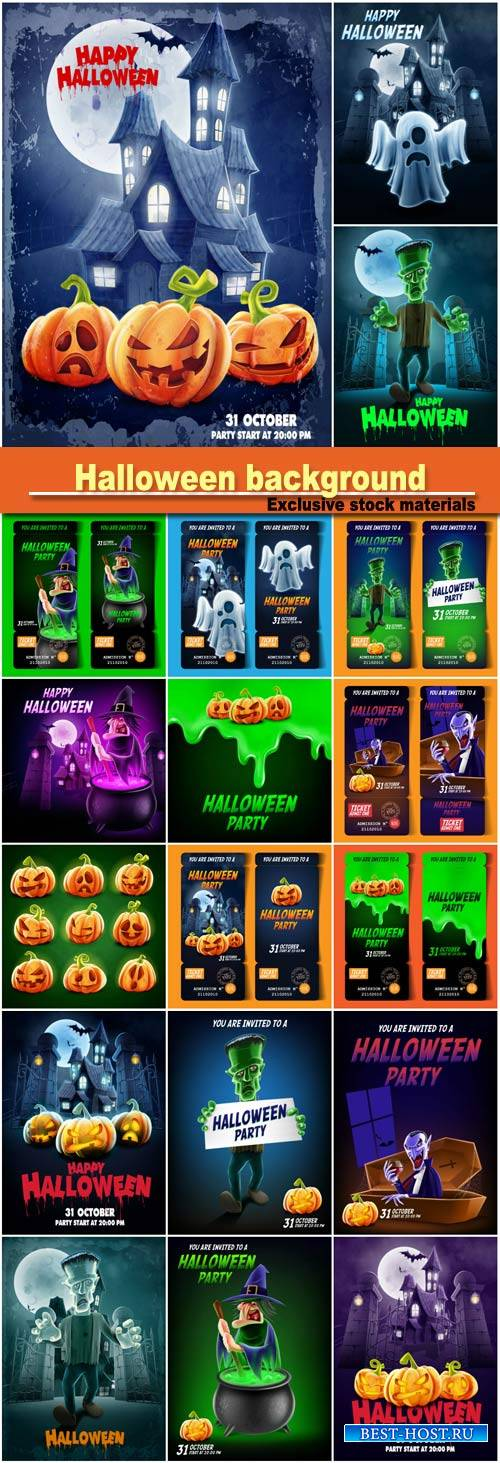 Halloween vector background design