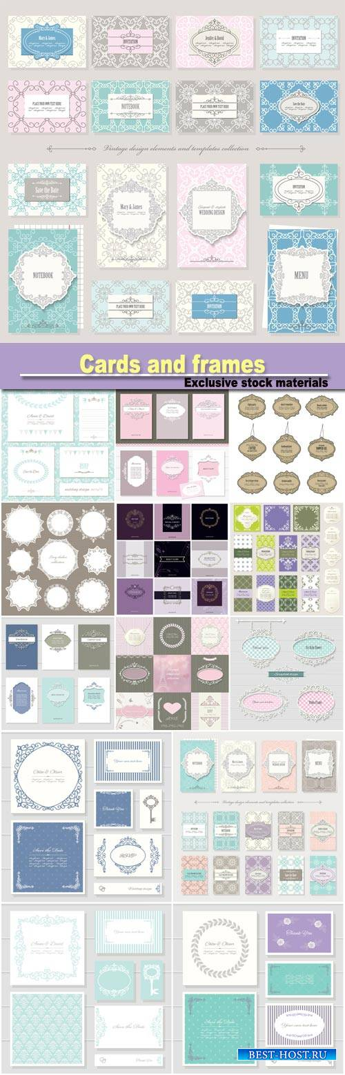 Templates, cards and  in vintage style