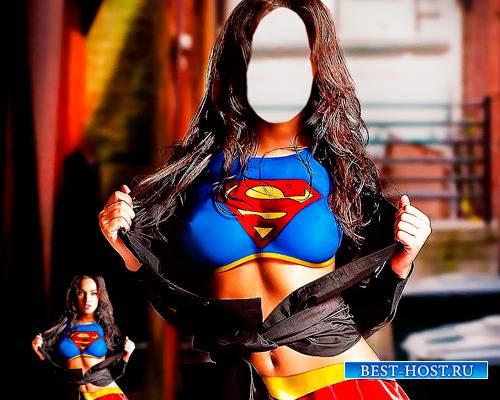 Шаблон - Девушка супермена