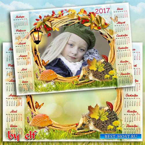 Календарь-рамка на 2017 год - Такая осень разная, то хмурая, то ясная