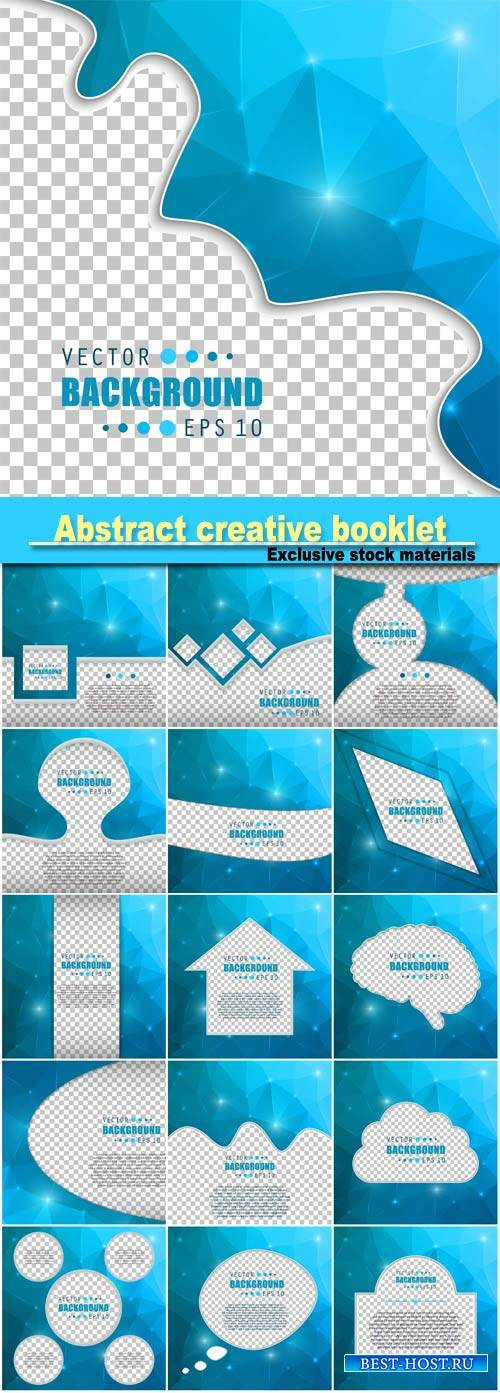 Abstract creative concept vector booklet list for web and mobile Applicatio ...