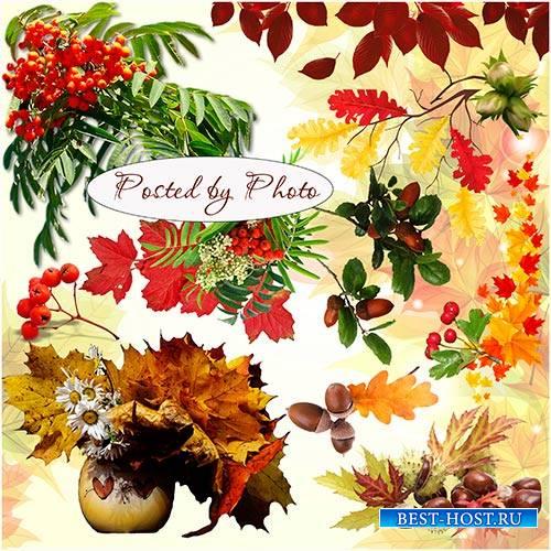 Клипарт на прозрачном фоне - Осенний пейзаж