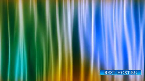 Футаж - Разноцветный, переливающийся занавес