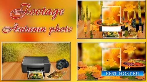 Футаж - Осенняя фотография