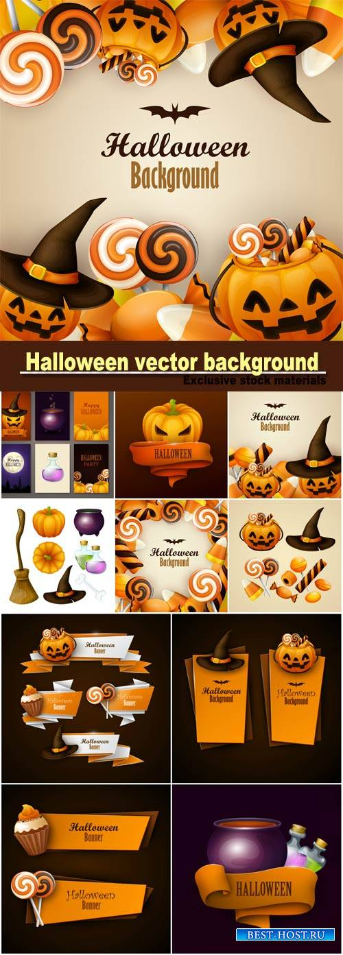 Halloween vector background and design banners
