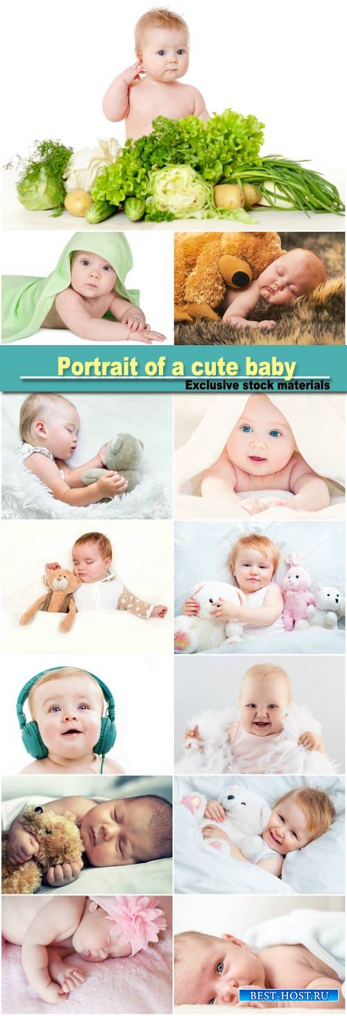 Portrait of a cute baby