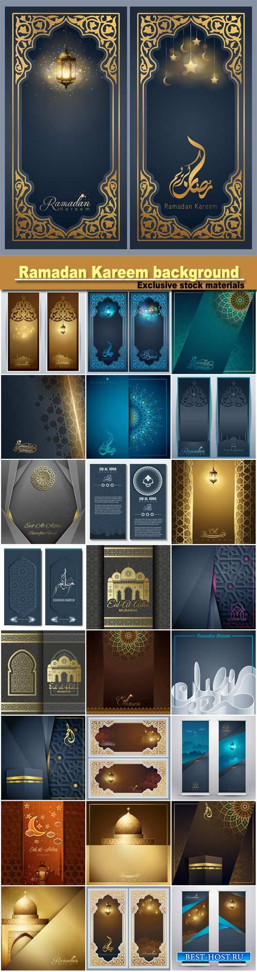 Ramadan Kareem greeting banner background template for islamic festival des ...