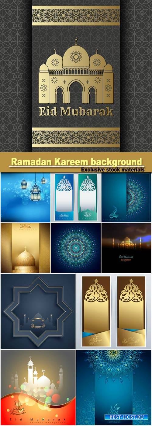 Islamic vector design Ramadan Kareem banner background template