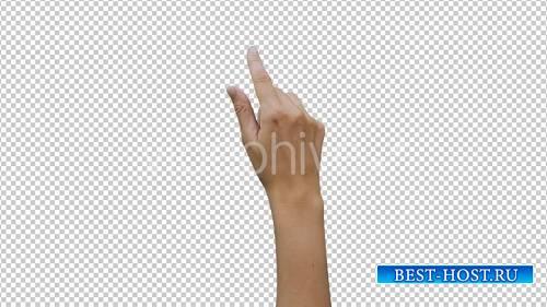 14 Видеоматериалов Женщины рука Жесты Сенсорный экран - Видеоматериал