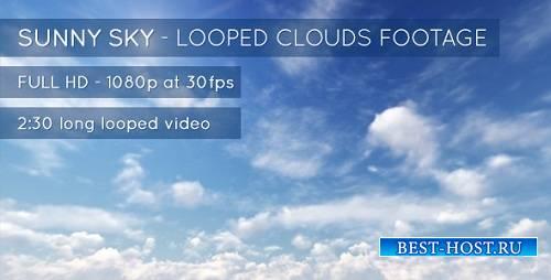 СОЛНЕЧНОЕ небо и облака - футажи (VideoHive)