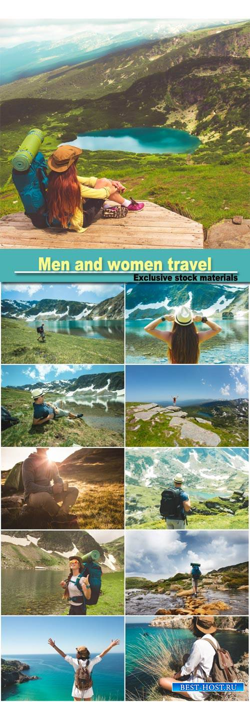 Men and women travel