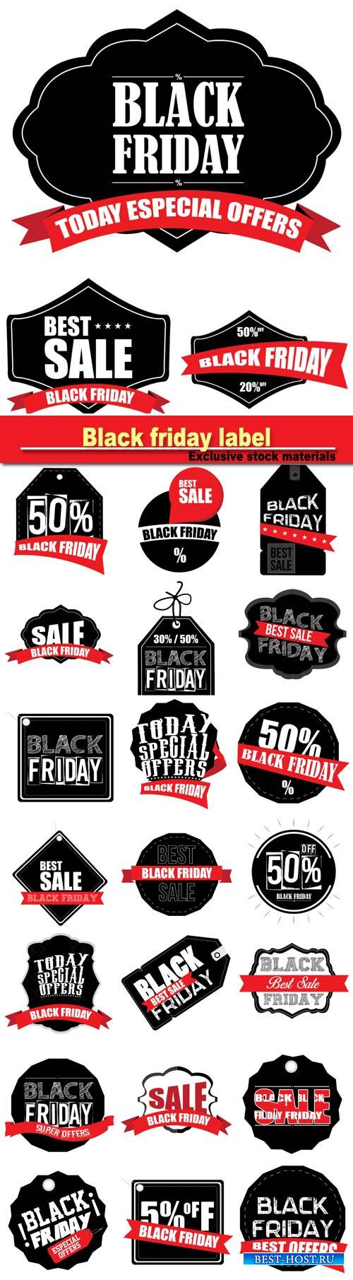 Black friday label