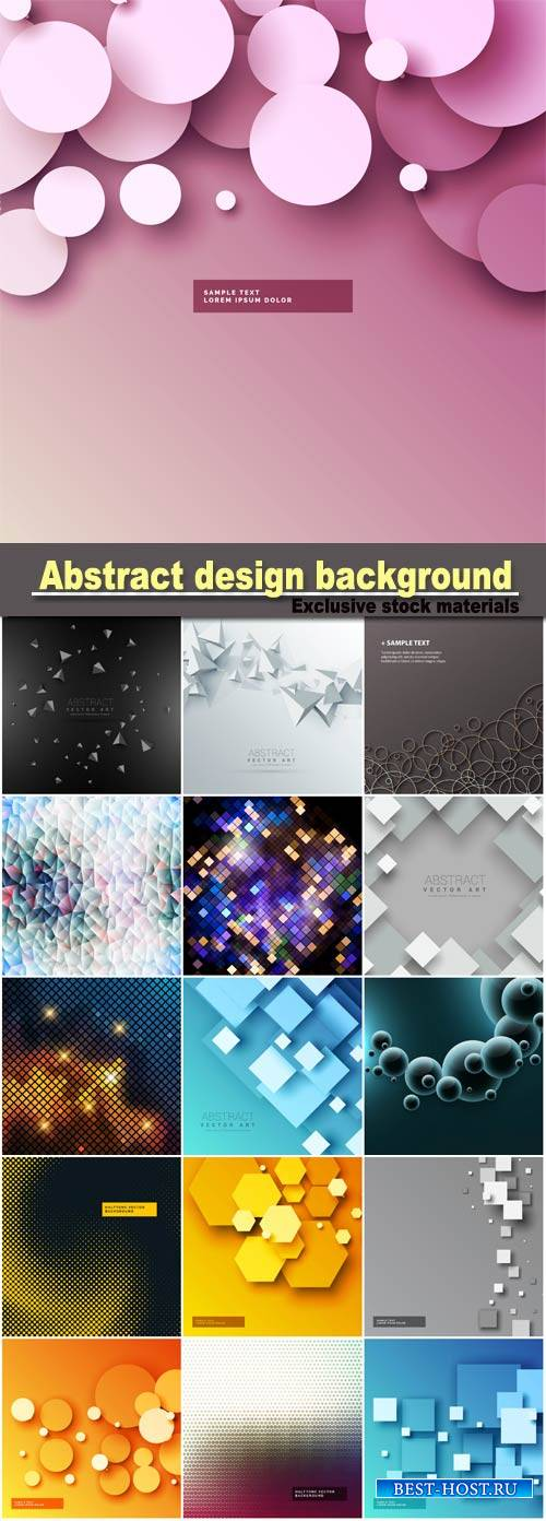 Abstract design background with geometric square shapes, 3d circles backgro ...