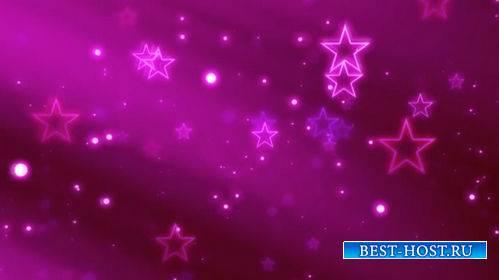 Футаж - Звезды летят в экран