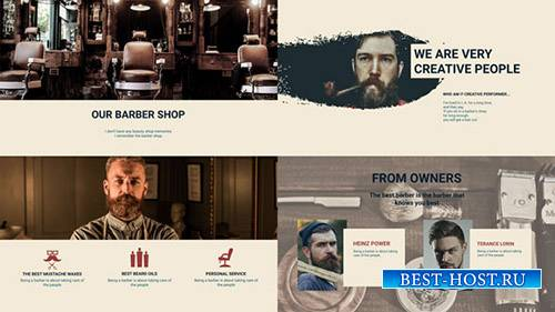 Парикмахерской Презентация - Project for After Effects (Videohive)