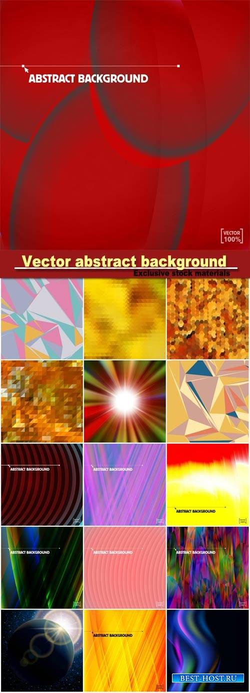 Multicolor illuminated fantasy vector abstract background
